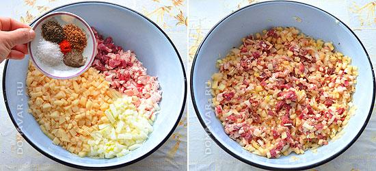 Начинка из мяса и картофеля