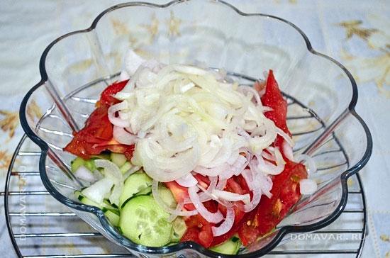 Овощной салат с баклажанами