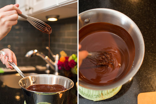 Шоколадно-малиновый пирог