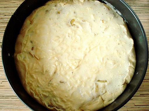 Луковый пирог из слоёного теста