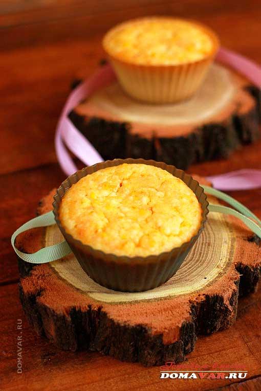 Творожный десерт с цедрой мандарина