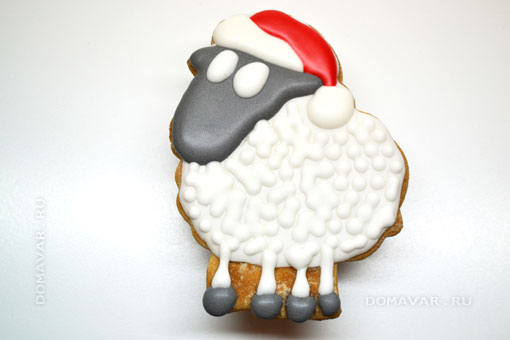 Праздничные печенья с глазурью «Овечки в лесу»