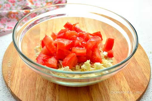 Салат из пекинской капусты и с красной фасолью