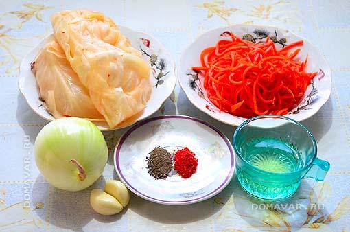 Салат из квашеной капусты и морковью
