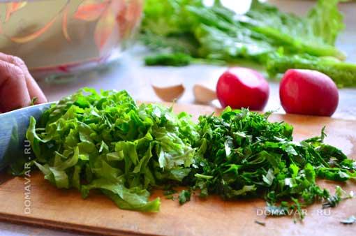 Салат с редисом рецепт