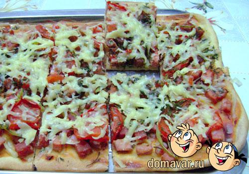 Пицца Колбасное ассорти в домашних условиях - рецепт пошаговый с фото