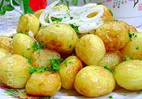 Отварной картофель обжаренный в масле